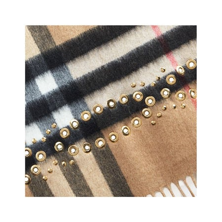 Venice The Classic Cashmere Scarf in Studded Check 4046410 40491243 Burberry,The Classic Cashmere Scarf in Studded Check , 40491243, 673486,Fashion & Accessories