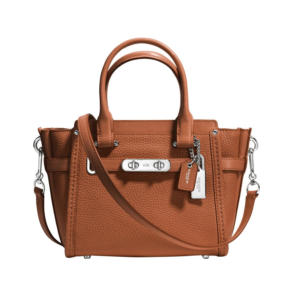 4f2b97d8f7287 Coach Swagger 21 In Pebble Leather Venice